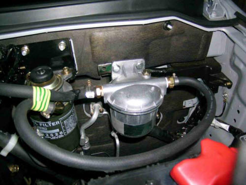 Pajero fitted with Debug fuel L500_unit